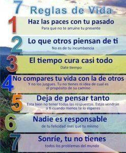 7 reglas de la vida www.tucaminodelbienestar.com