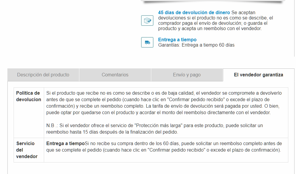 GARANTIA DEVOLUCION WWW.TUCAMINODELBIENESTAR.COM