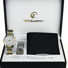 Caja de Regalo Reloj Hombre Plata Oro www.tucaminodelbienestar.com